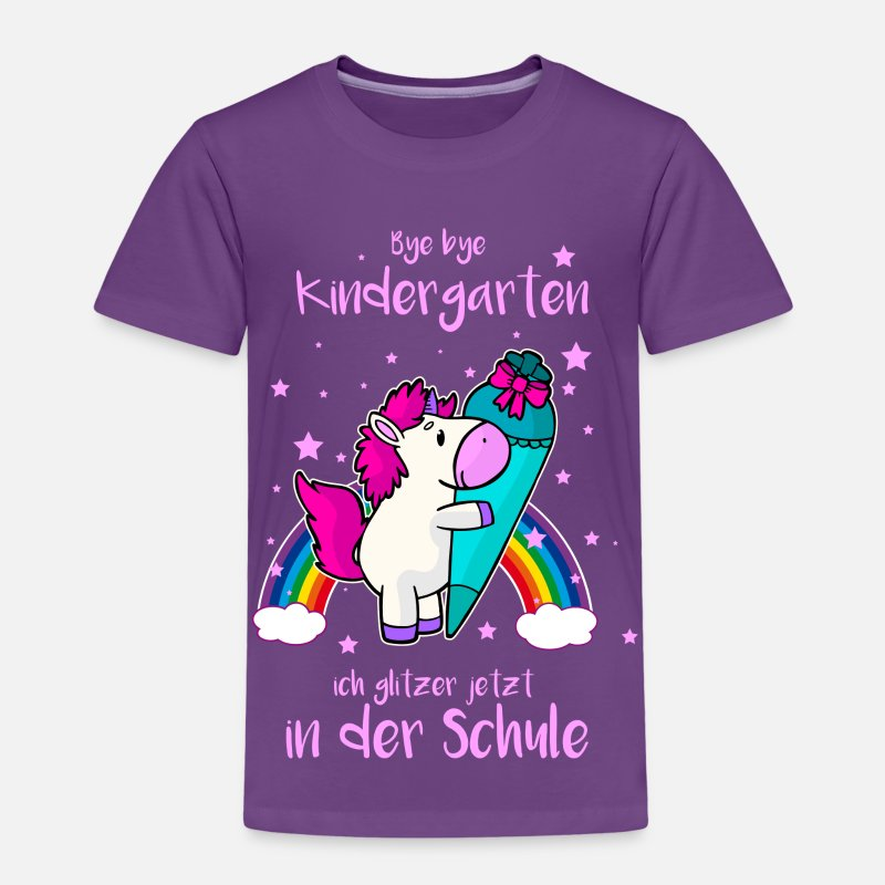 schuleinf hrung einhorn kinder premium t shirt spreadshirt. Black Bedroom Furniture Sets. Home Design Ideas