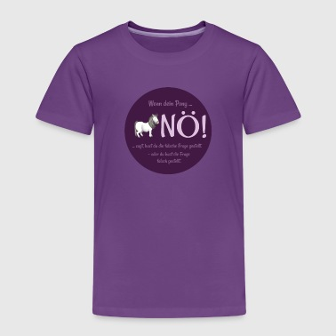Pony says nö - Kinder Premium T-Shirt