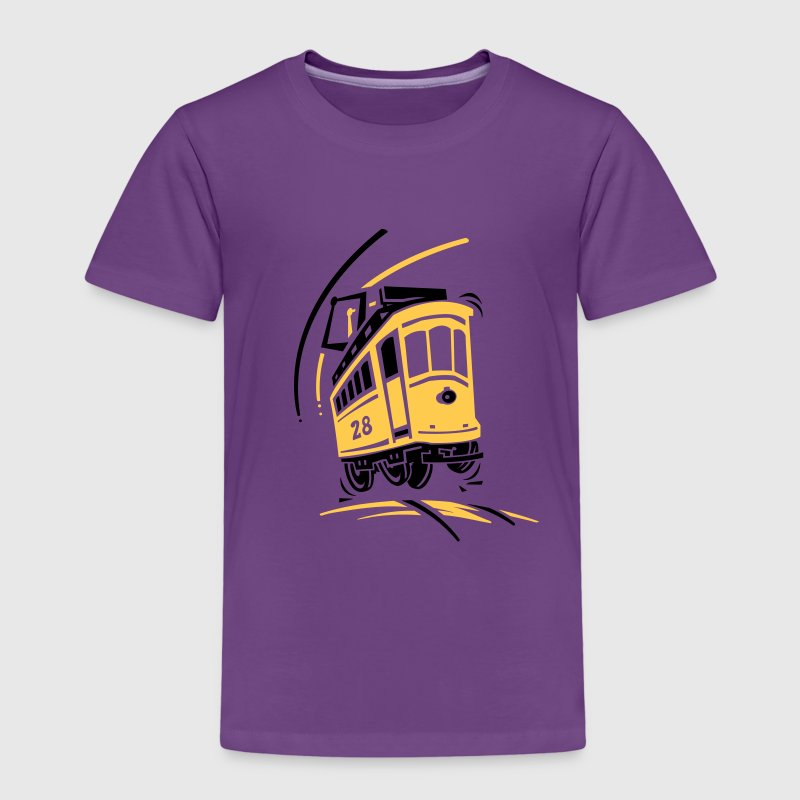 Tramway électrique cartoon - T-shirt Premium Enfant