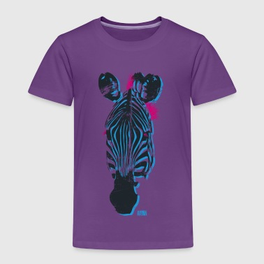 Animal Planet Colourful Zebra Head - Kids' Premium T-Shirt
