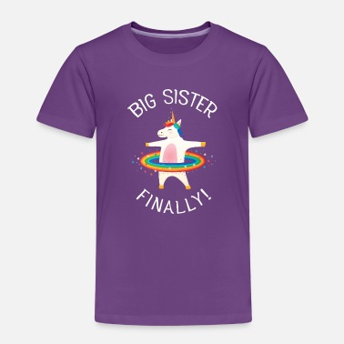 Big Sister Unicorn, Big Sister Finally! - Kids' Premium T-Shirt