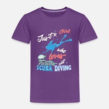 Just a Girl Who Loves Turtles and Scuba Diving - Kids' Premium T-Shirt