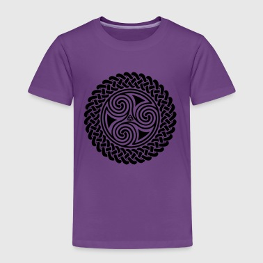 Triple Spiral in Celtic band - Kids' Premium T-Shirt