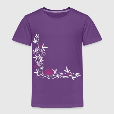 Bamboo with small blossoms and lotus flower. - Kids' Premium T-Shirt