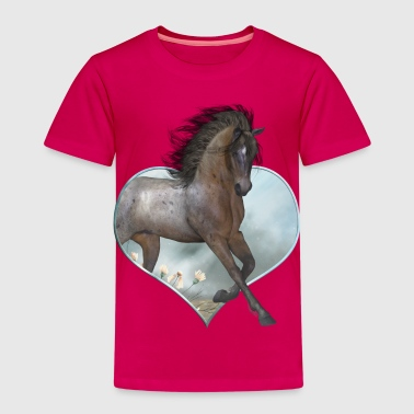 Meadow The Horse - Kinder Premium T-Shirt