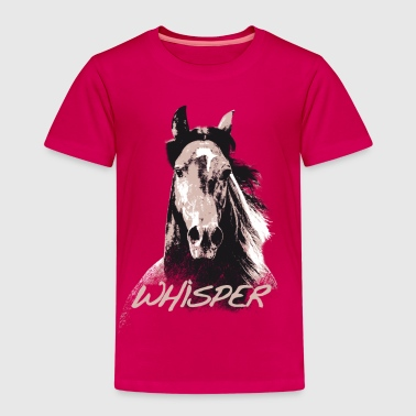 Whisper 3 Étalon Cheval Portrait Dessin - T-shirt Premium Enfant