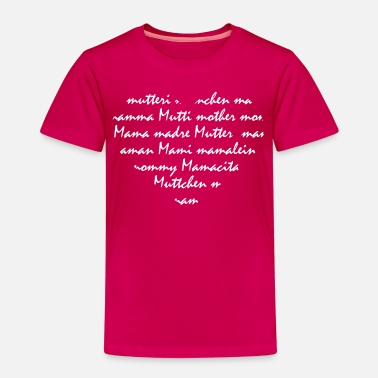 Muttchen Mamaherz - mommy heart - Kinder Premium T-Shirt