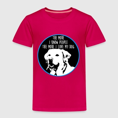 love my dog labrador hund liebe - Kinder Premium T-Shirt