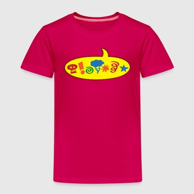 Cursing bad words speech balloon - Kids' Premium T-Shirt