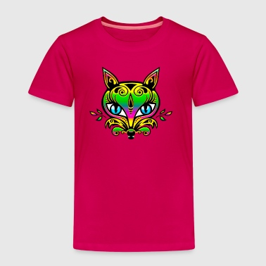 Vos, bos, regenboog, fox, save nature, earth - Kinderen Premium T-shirt