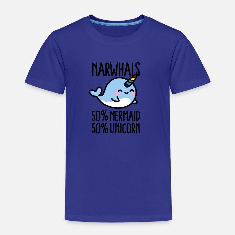 Narwhals 50 Mermaid 50 Unicorn Kinder Premium T Shirt Spreadshirt