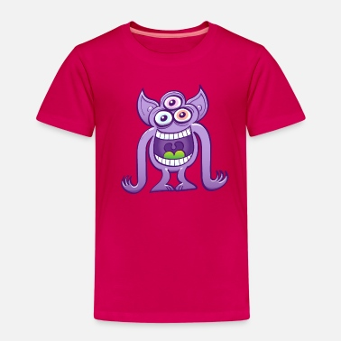 Three-eyed Three-eyed crazy alien laughing mischievously - Kids' Premium T-Shirt