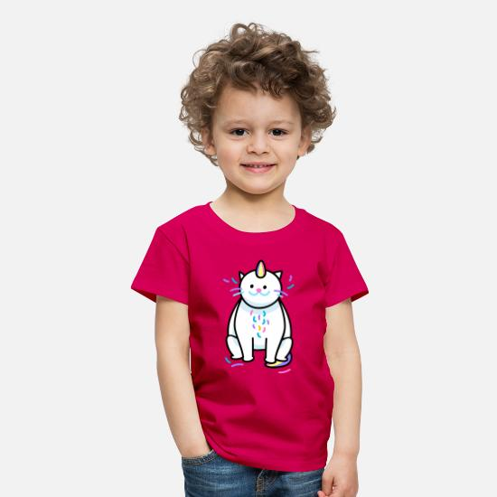 Birthday T-Shirts - catcorn - Kids' Premium T-Shirt dark pink