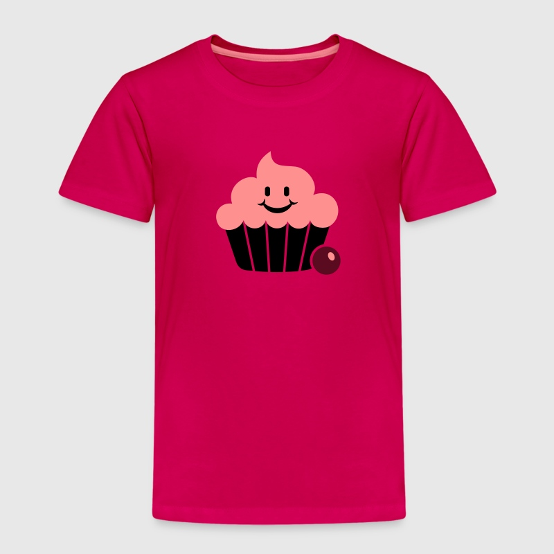 happy cupcake / Fröhlicher Muffin (3c) - Kids' Premium T-Shirt