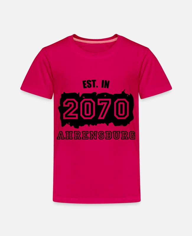 2070 T-Shirts - Established 2070 Ahrensburg - Kinder Premium T-Shirt dunkles Pink