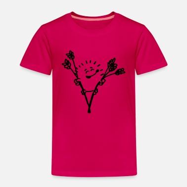 Cute hedgehog in the reed | Color changeable - Kids' Premium T-Shirt