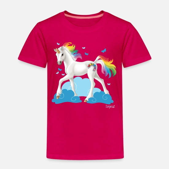 Unicorn T-Shirts - Schleich bayala rainbow unicorn - Kids' Premium T-Shirt dark pink