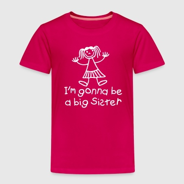 I'm gonna be a big sister - Premium T-skjorte for barn