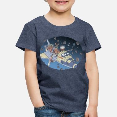 Comic Space Adventure - Kids' Premium T-Shirt
