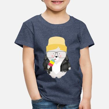 Hipster COOL BEAR WITH ICE - Kinder Premium T-Shirt