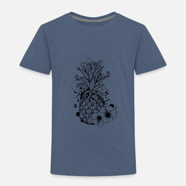 Pineapple with hibiscus blossom - Kinderen Premium T-shirt