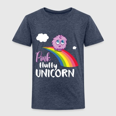 Pink fluffy Unicorn - Kinder Premium T-Shirt