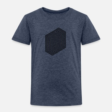 Form &amp Optical Illusion (Impossible Minimal B & W Lines) - Kids' Premium T-Shirt