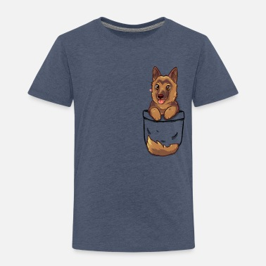 Pocket Cute German Shepherd Alsatian Dog - Kids' Premium T-Shirt