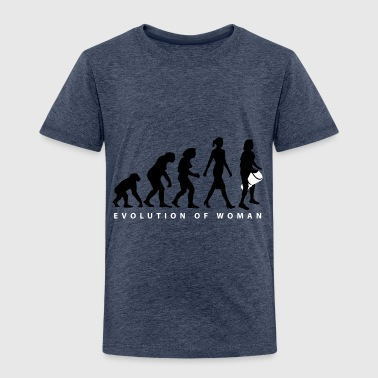 Evolution der Frau Djembe - Kinder Premium T-Shirt