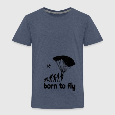 Evolution Skydiving - born to fly - Kids' Premium T-Shirt