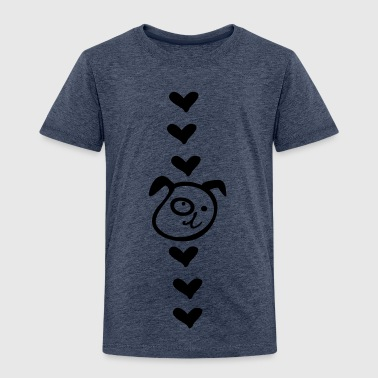 heart dog heart c1 - Kids' Premium T-Shirt