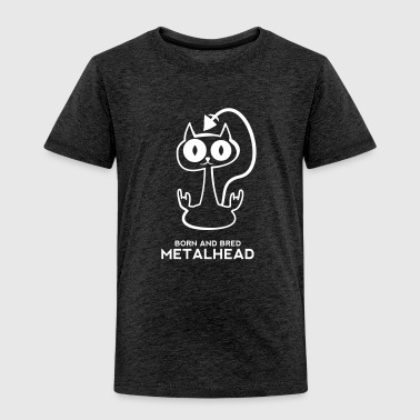 Heavy metal cat for dark backgrounds - Kinder Premium T-Shirt