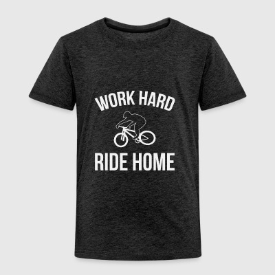 WORK HARD RIDE HOME - Børne premium T-shirt