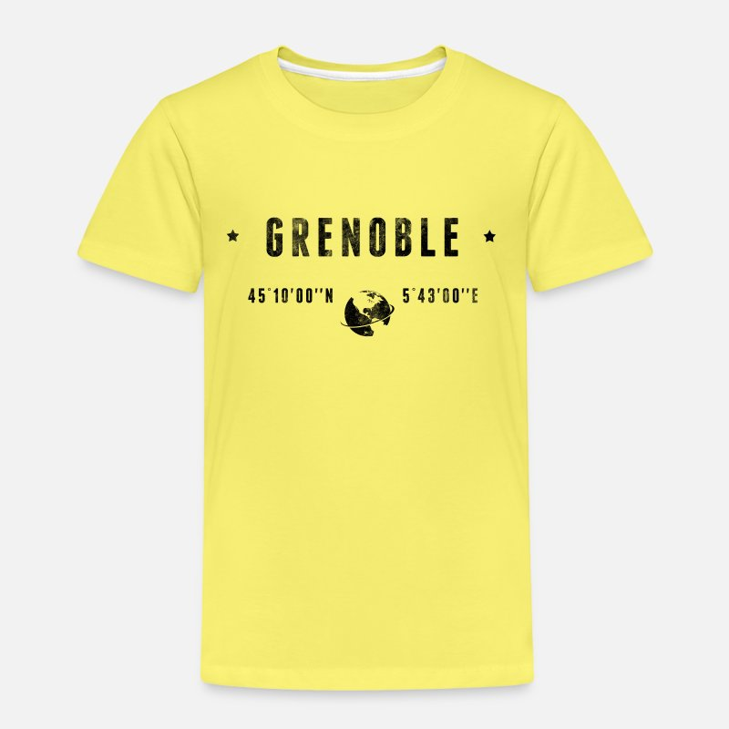 Grenoble T-shirts - Grenoble - T-shirt premium Enfant jaune