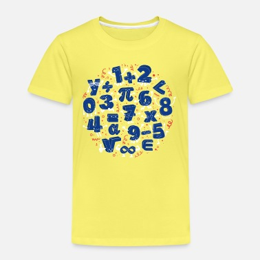 Einschulung Symbole Happy Numbers (Mathe) - Kinder Premium T-Shirt