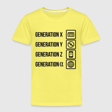 Generationen Kassette MP3 Player Web - Kinder Premium T-Shirt