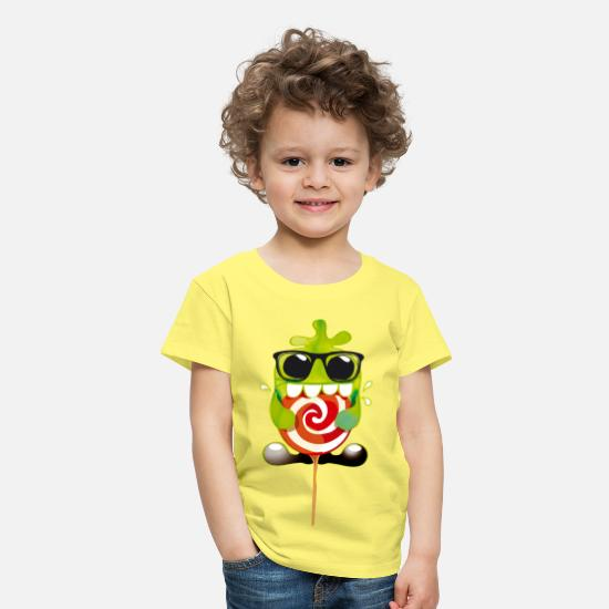 First Day Of School T-Shirts - Lolling monster - Kids' Premium T-Shirt yellow