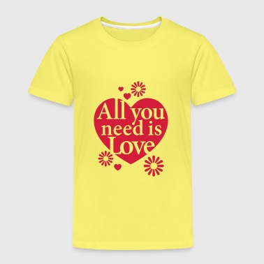 All you need is Love Heart Herz Blume Flower hygge - Kinder Premium T-Shirt