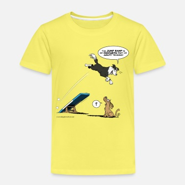 Collie Border collie / Agilität des Hundes - Kinder Premium T-Shirt