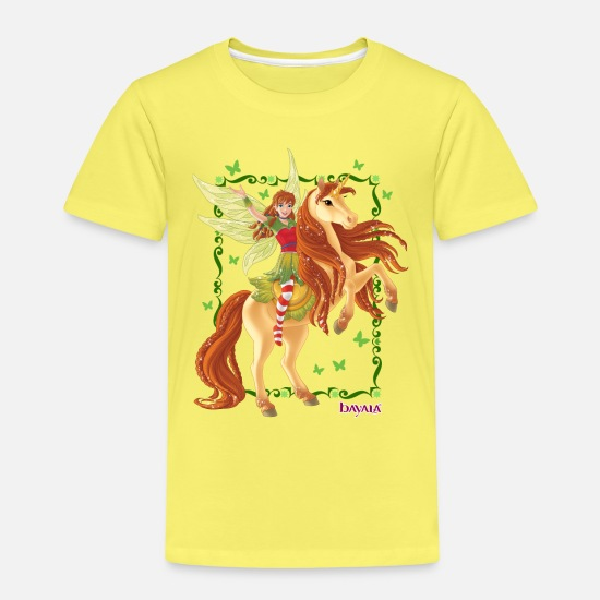 Fly T-Shirts - Schleich bayala Marween rides unicorn - Kids' Premium T-Shirt yellow