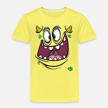 Fasching Monster Gesicht - Kinder Premium T-Shirt