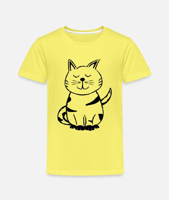 Cat Lady T-Shirts - Diego the Cat 1 - Kids' Premium T-Shirt yellow