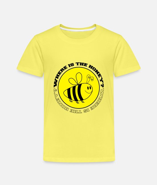Lecker T-Shirts - where is the honey 2 - Kinder Premium T-Shirt Gelb