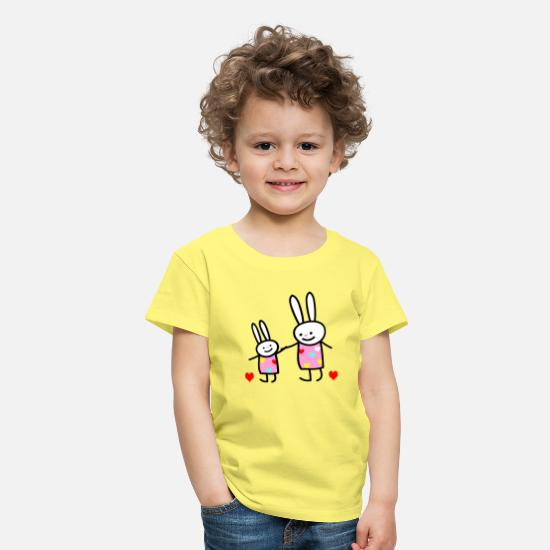 Sister T-Shirts - rabbit children - Kids' Premium T-Shirt yellow