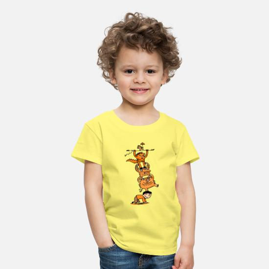 Collections T-Shirts - Monster - Kinder Premium T-Shirt Gelb