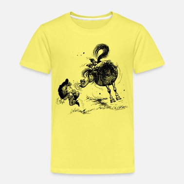 For Kids Thelwell 'Pony sticks out his tounge. - Kids' Premium T-Shirt
