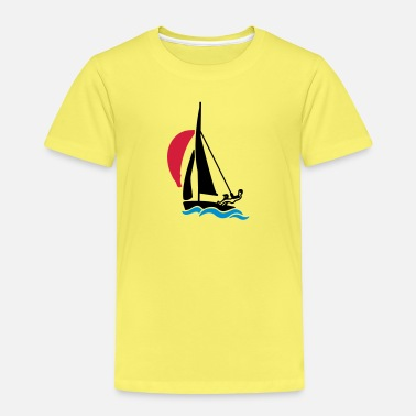 Dinghy Dinghy with spinnaker - Kids' Premium T-Shirt