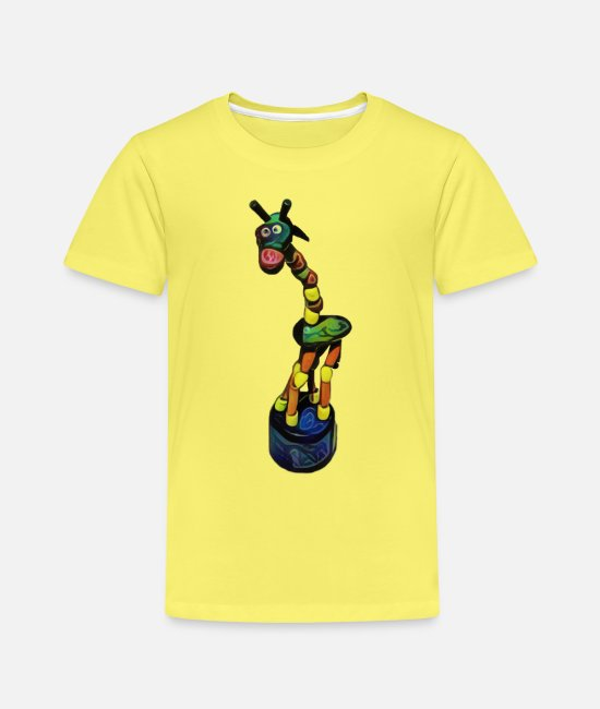Joy T-Shirts - A colorful giraffe - Edition 3 - Kids' Premium T-Shirt yellow