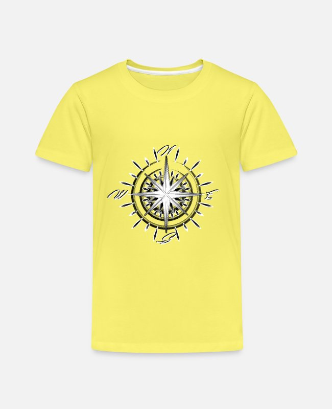 Away T-Shirts - Nautical compass - Kids' Premium T-Shirt yellow