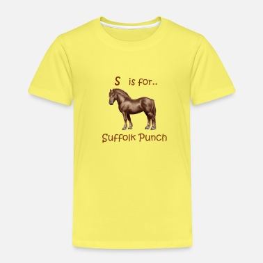 Suffolk Equestrian Alphabet 'S ist für ... Suffolk Punch' - Kinder Premium T-Shirt